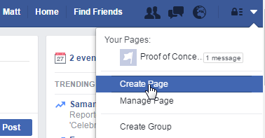 Create page.