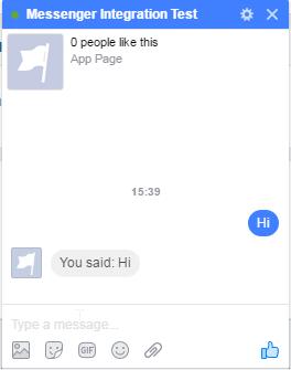 Bot responds.